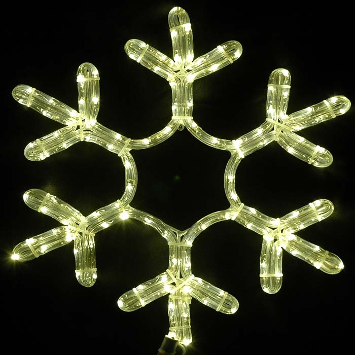 "Picture of 15"" LED Rope Light Snowflake-Warm White"