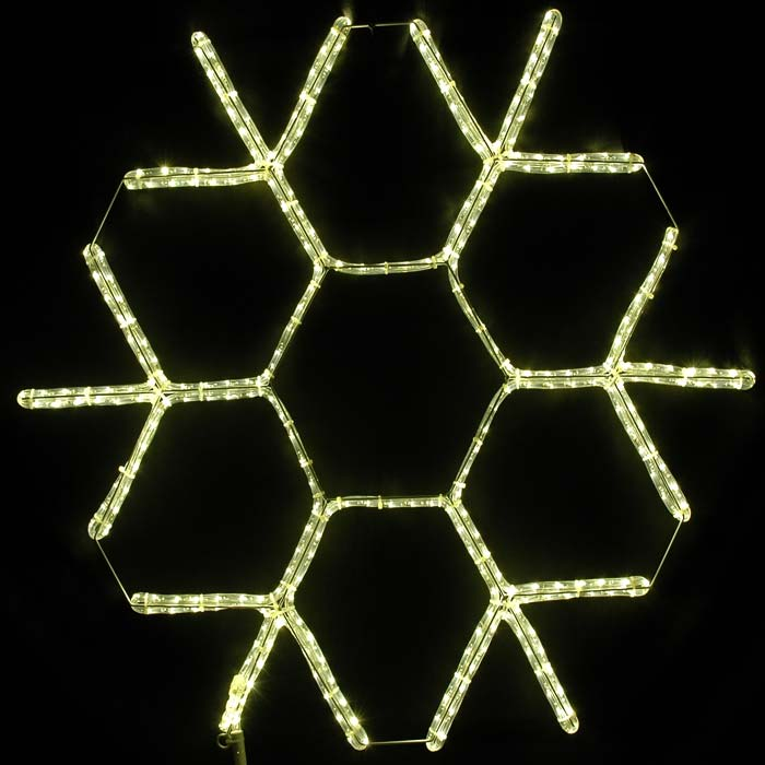 "Picture of 36"" LED Snowflake Warm White"