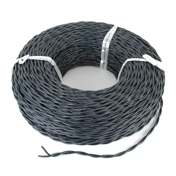 Picture of Black Twisted Wire 16 Gauge 500 Feet