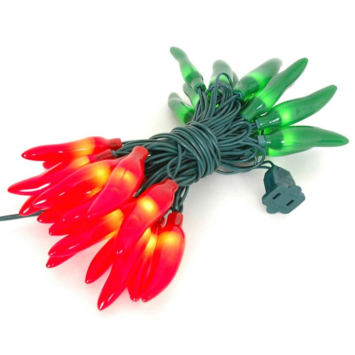 Picture of Red and Green Christmas Chili Pepper String lights 35 Count