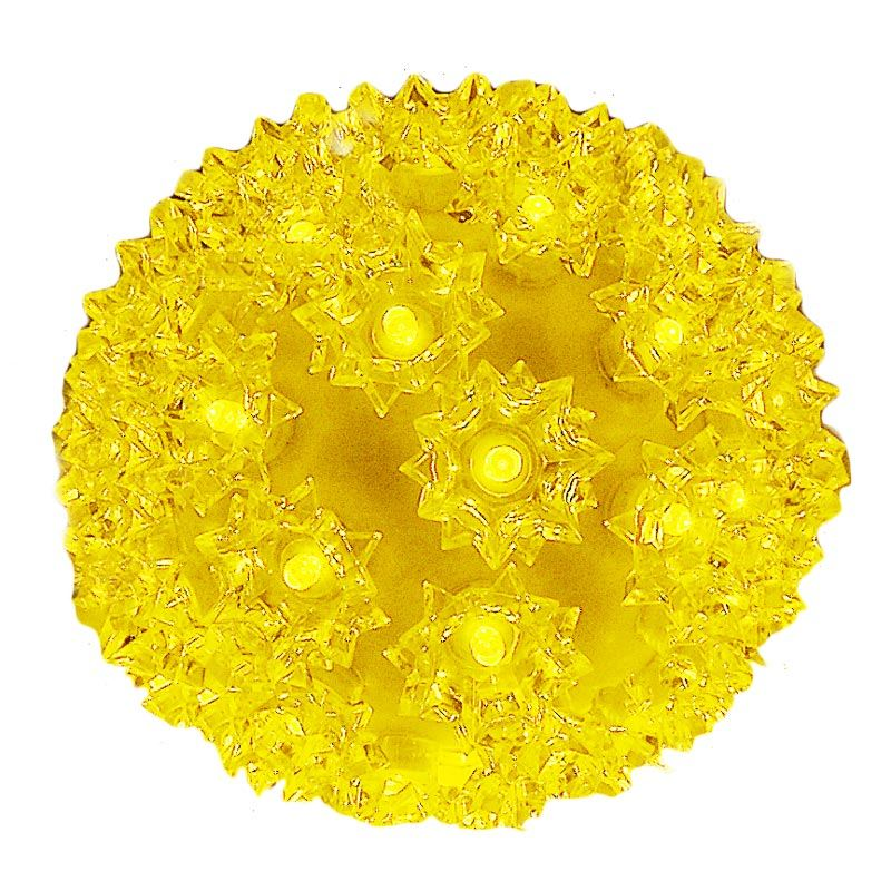 """Picture of 50 Yellow LED 6"""" Sphere"""