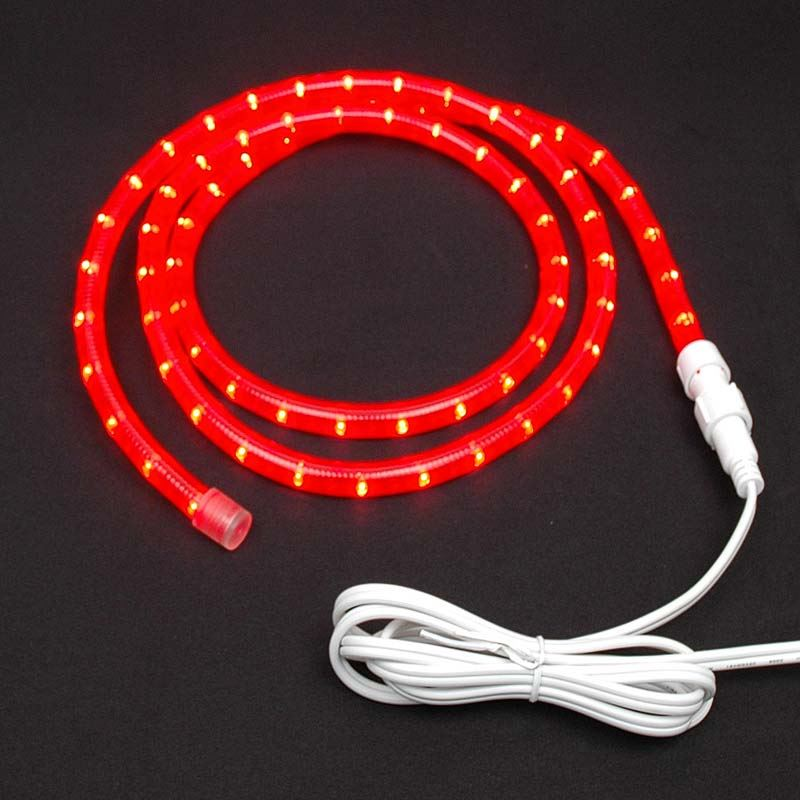 "Picture of Red Rope Light Custom Cut 1/2"" 120V Incandescent"