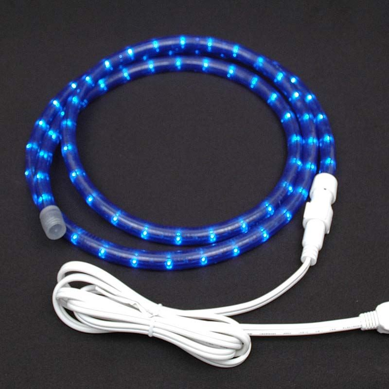 "Picture of Blue Rope Light Custom Cut 1/2"" 120V Incandescent"