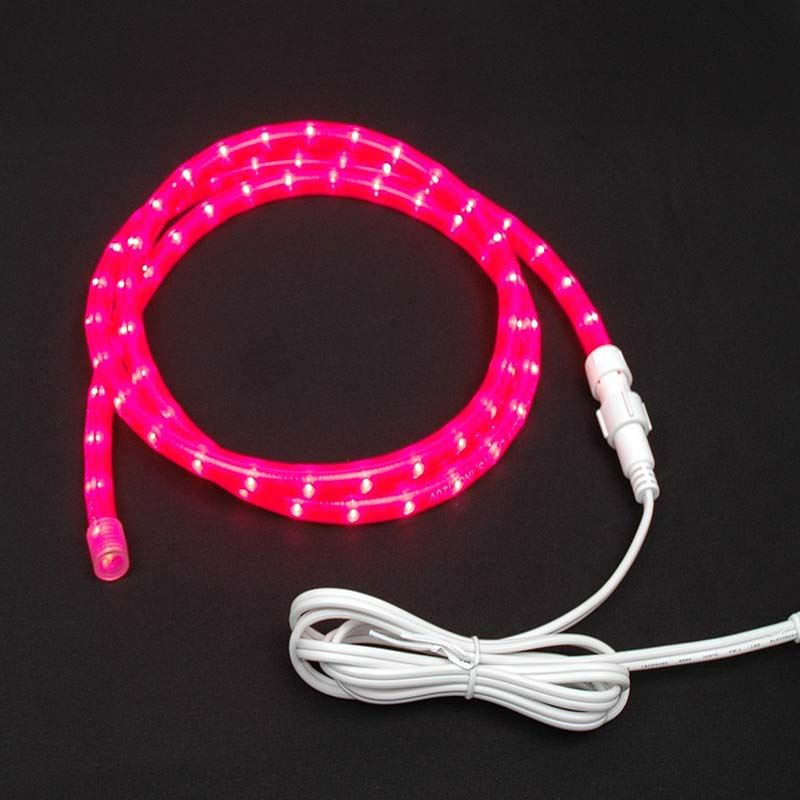 "Picture of Pink Rope Light Custom Cut 1/2"" 120V Incandescent"