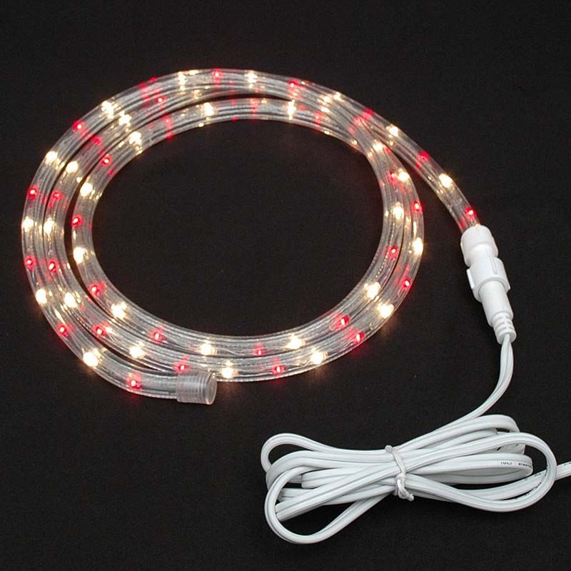 "Picture of Red/Clear Rope Light Custom Cut 1/2"" 120V Incandescent"