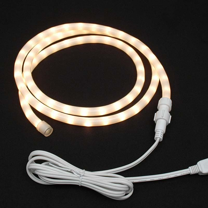 "Picture of Frosted White Chasing Rope Light Custom Kits 1/2"" 3 Wire"