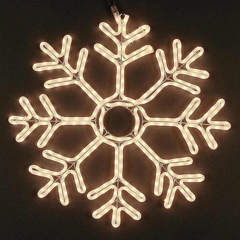 "Picture of 24"" Deluxe Rope Light Snowflake"