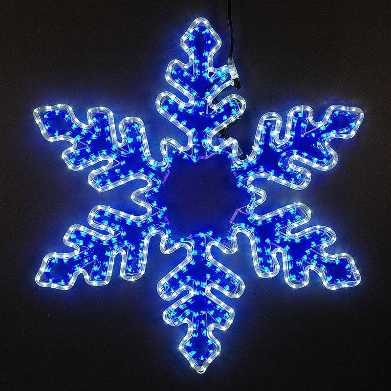 Picture of 5' Fancy LED Blue and White Snowflake