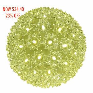 "Picture of 100 Warm White LED 7.5"" Sphere *On SALE*"