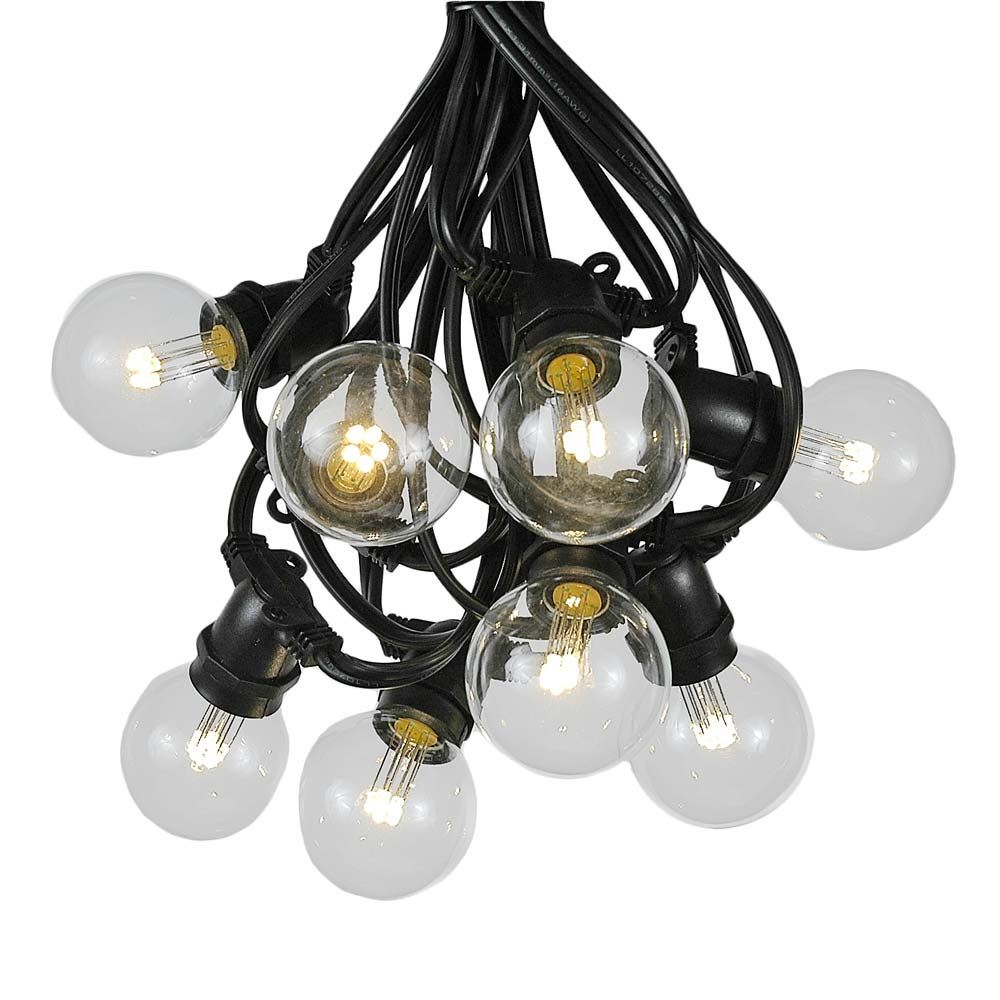 Picture of 25 Warm White LED G50 Commercial Grade Intermediate Base Light Set