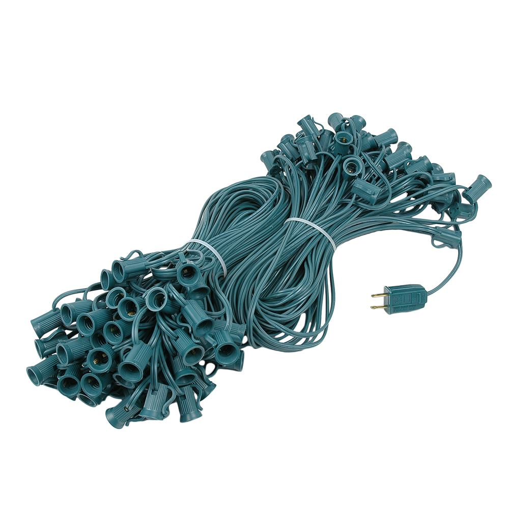 "Picture of C7 200' Stringer 24"" Spacing, 100 Sockets - Green Wire"