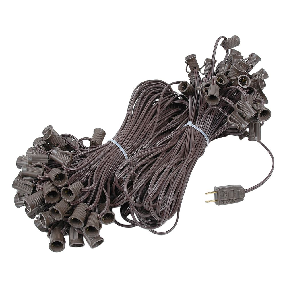 "Picture of C7 200' Stringer 24"" Spacing, 100 Sockets - Brown Wire"