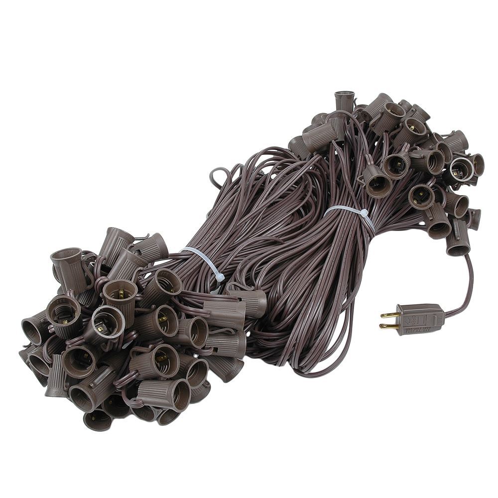 "Picture of C9 200' Stringer 24"" Spacing, 100 Sockets - Brown Wire"