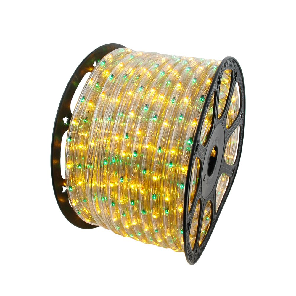 Picture of Yellow/Green 150 Ft Chasing Rope Light Spools, 3 Wire 120v 1/2""