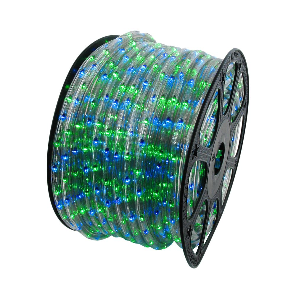 Picture of Blue/Green 150 Ft Chasing Rope Light Spools, 3 Wire 120v 1/2""