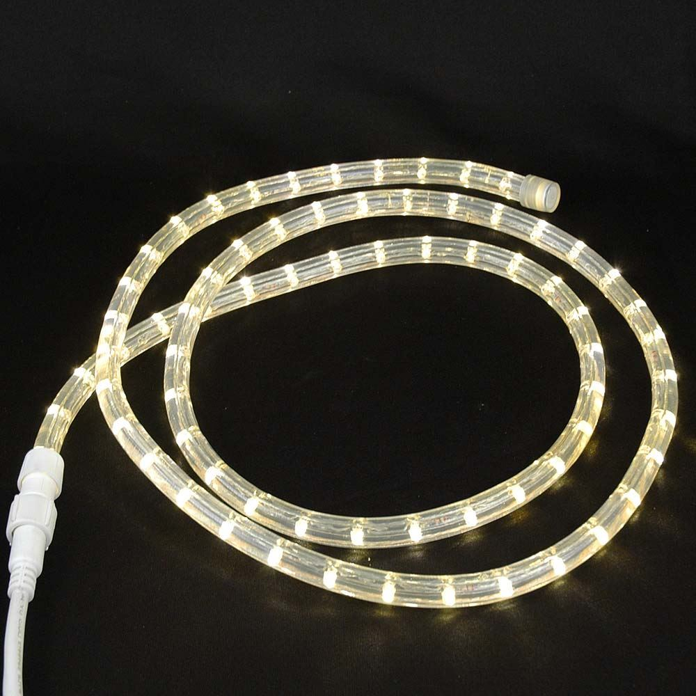 "Picture of Warm White Custom 12 Volt LED Rope Lights 1/2"" 2 Wire"