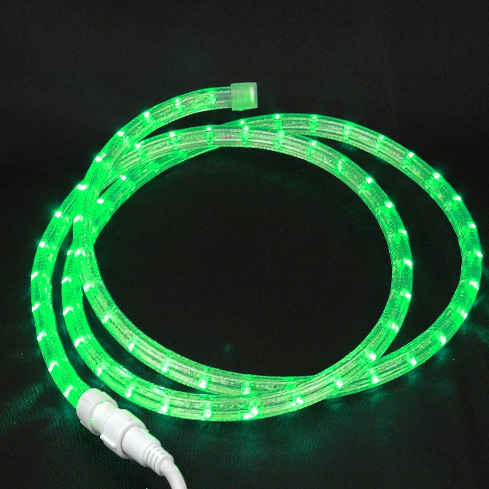 "Picture of Green Custom 12 Volt LED Rope Lights 1/2"" 2 Wire"