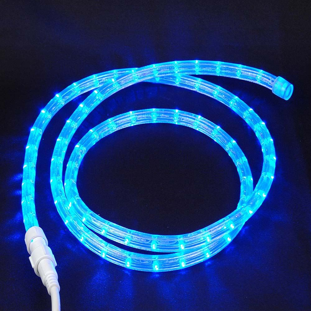 "Picture of Blue Custom 12 Volt LED Rope Lights 1/2"" 2 Wire"