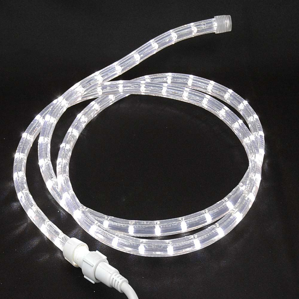 "Picture of Pure White Custom 12 Volt LED Rope Lights 1/2"" 2 Wire"