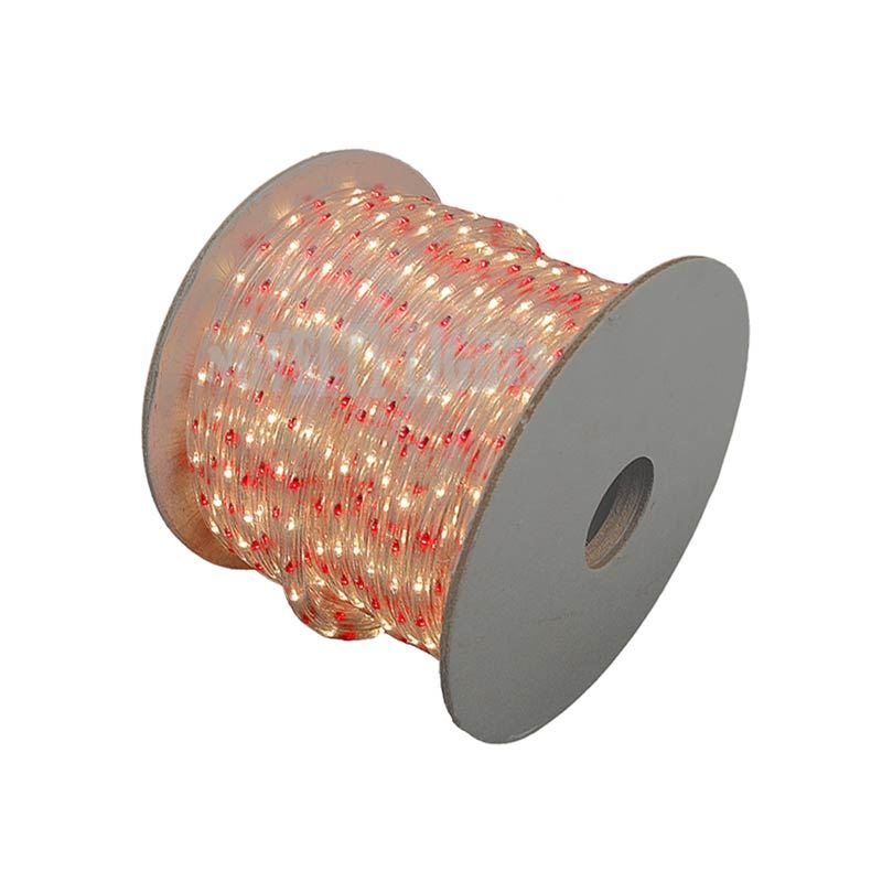 Picture of Red/Clear 150 Ft Chasing Rope Light Spools, 3 Wire 120v 1/2""