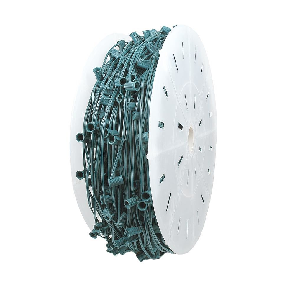 "Picture of C9 1000' Spool 12"" Spacing 8 Amp Green Wire"