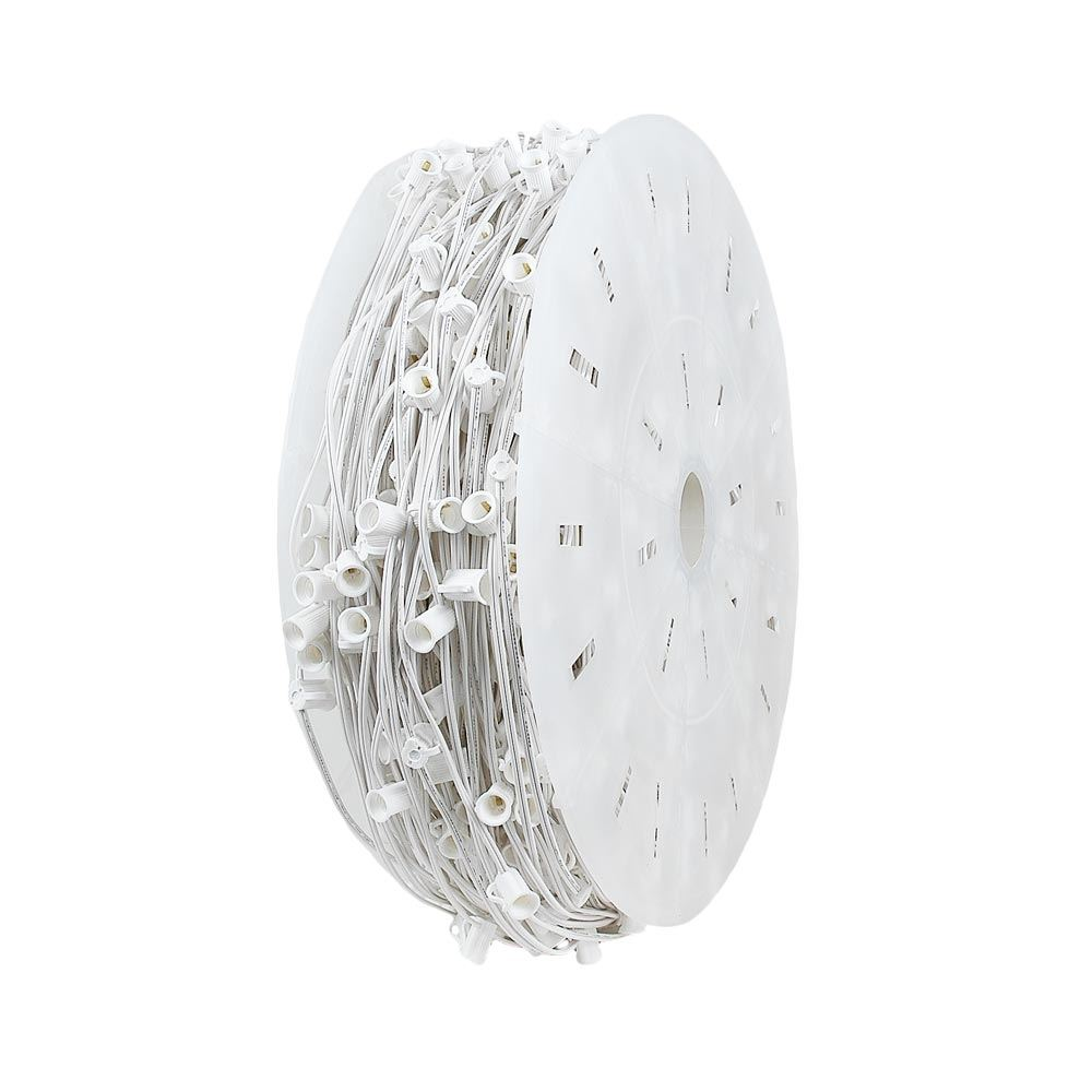 "Picture of C9 1000' Spool 30"" Spacing 8 Amp White Wire"