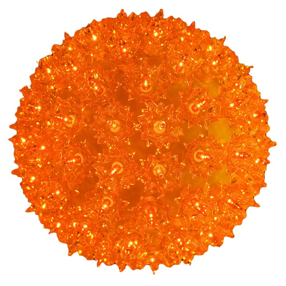 "Picture of Amber/Orange 150 Light Starlight Sphere 10"""