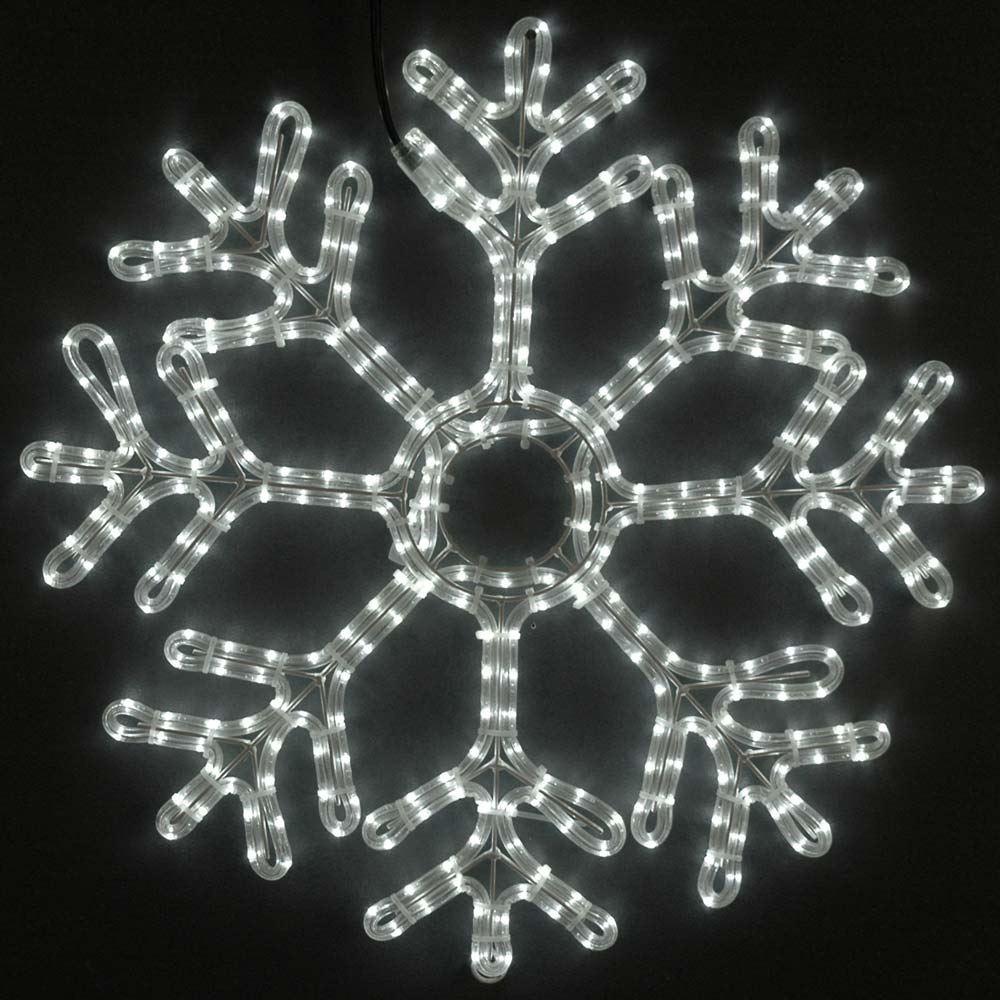 24 led rope light snowflake cool white novelty lights inc