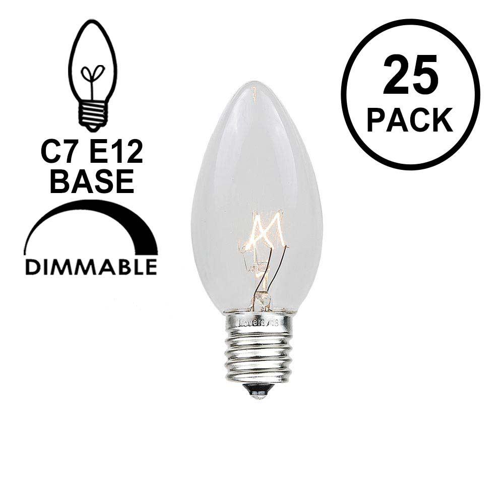 Picture of Clear Transparent C7 5 Watt Bulbs