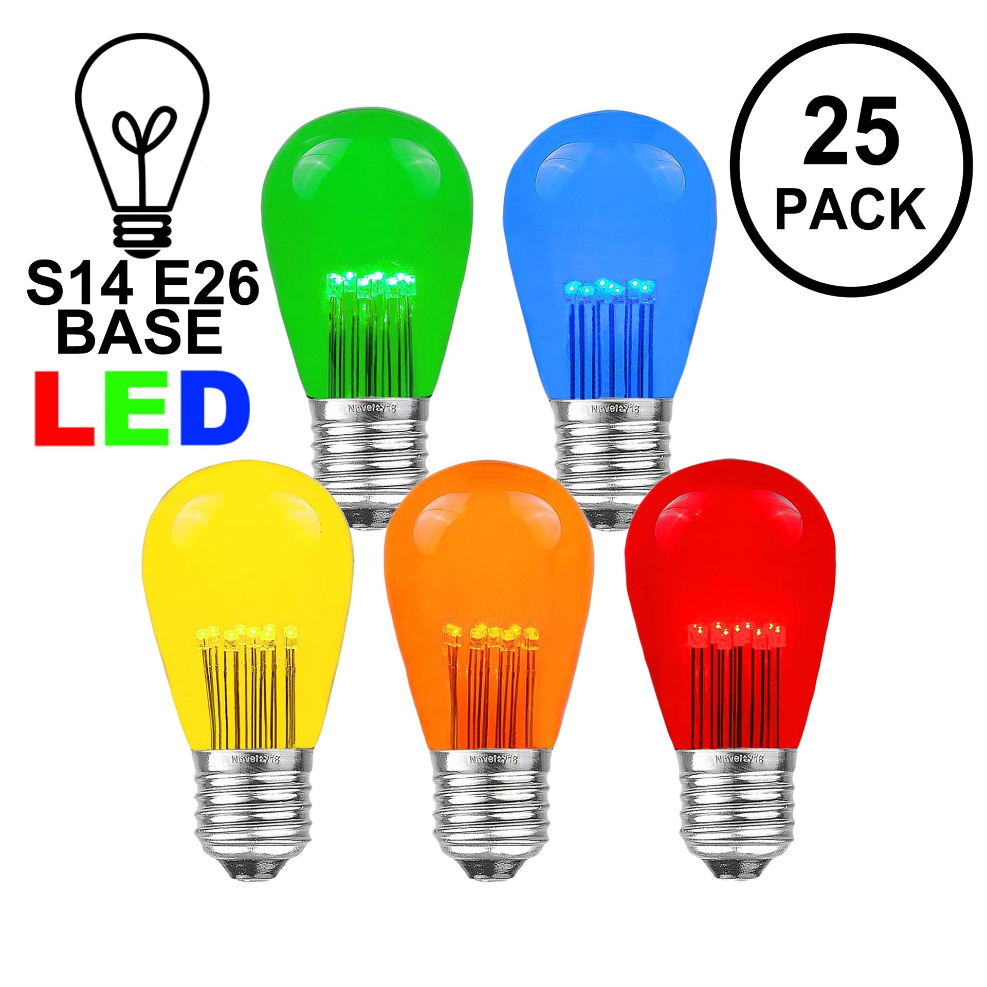 Picture of Multi S14 LED Medium Base e26 Bulbs w/ 9 LEDs - 25pk