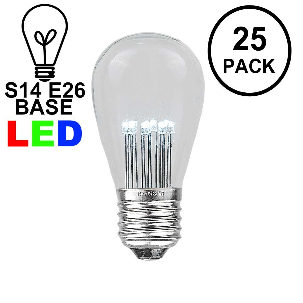 Picture of Pure White S14 LED Medium Base e26 Bulbs w/ 9 LEDs - 25pk