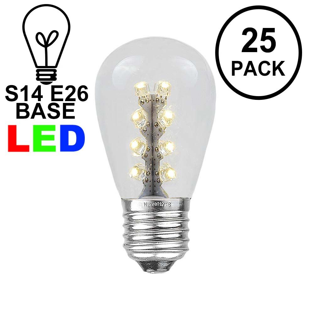 Picture of Warm White S14 LED Medium Base e26 Bulbs w/ 16 LEDs - 25pk