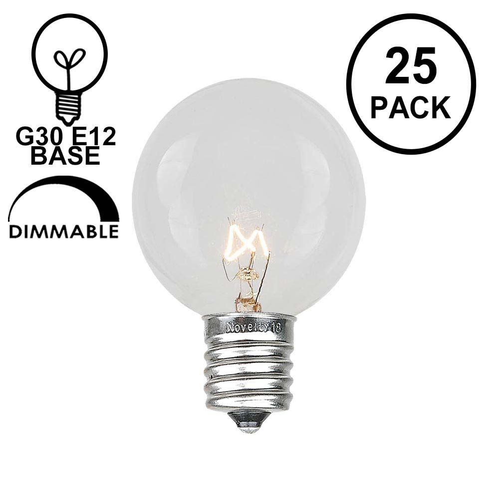 Picture of Clear G30 5 Watt Replacement Bulbs 25 Pack