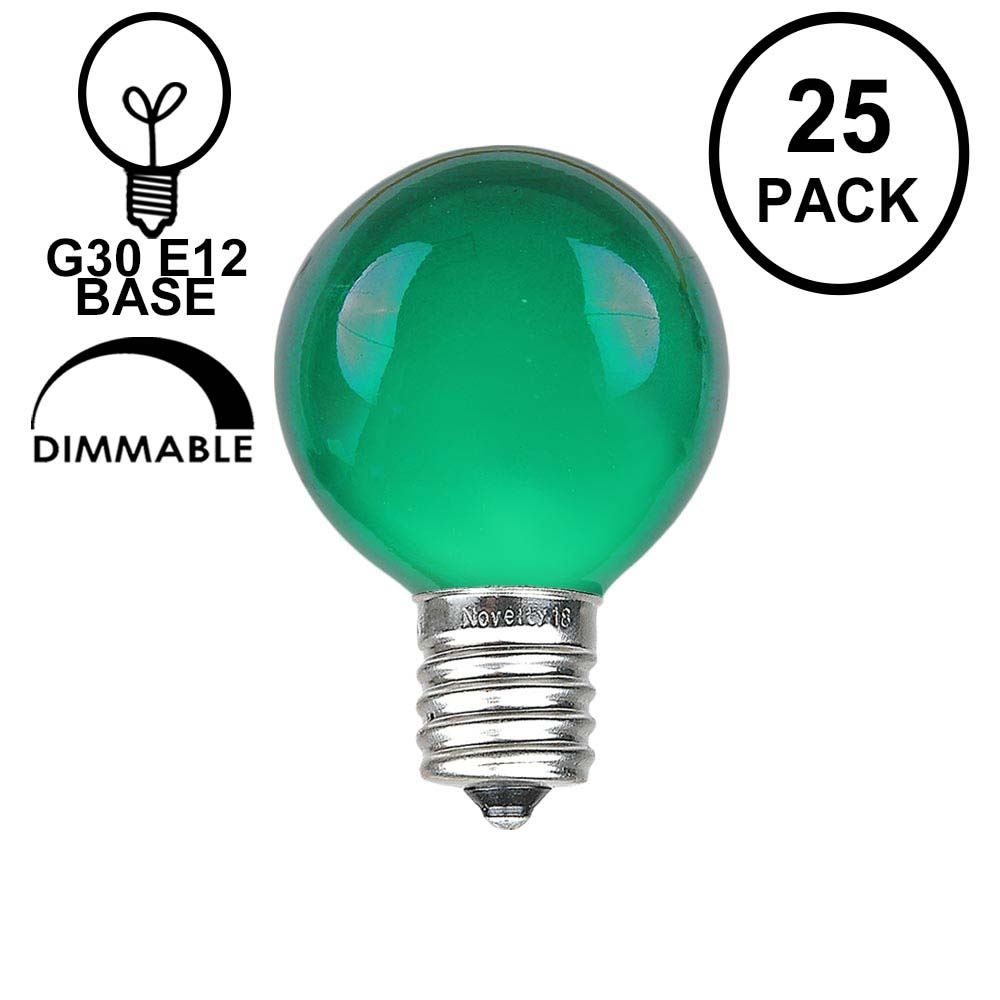 Picture of Green Satin G30 5 Watt Replacement Bulbs 25 Pack
