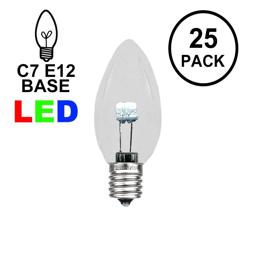 Picture of C7 - Pure White - Glass LED Replacement Bulbs - 25 Pack