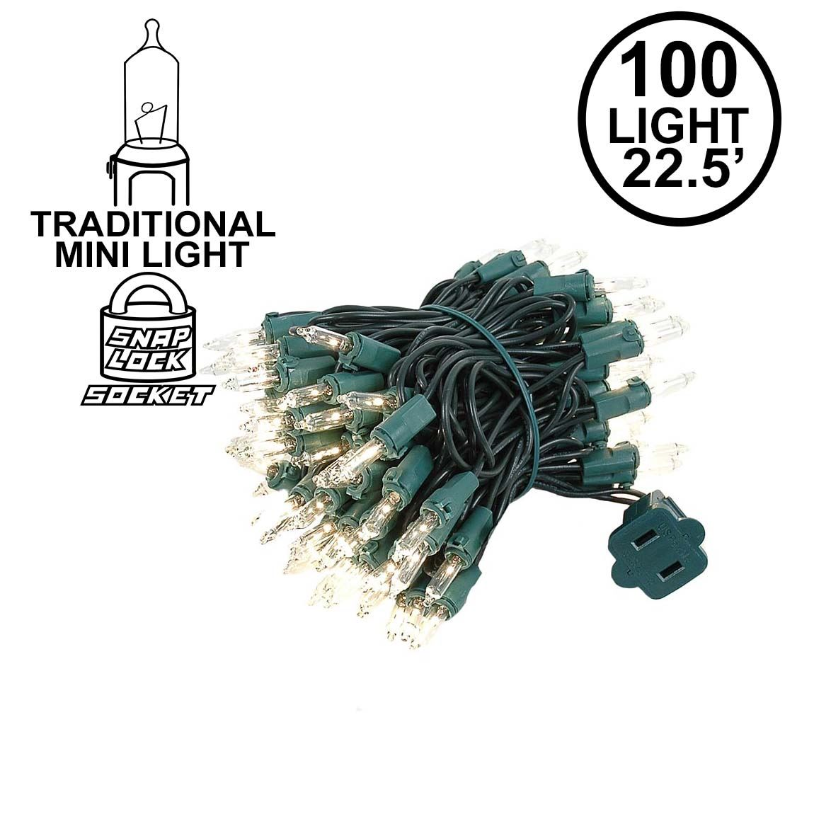 Picture of Clear Christmas Mini Lights 100 Light 22.5 Feet Long