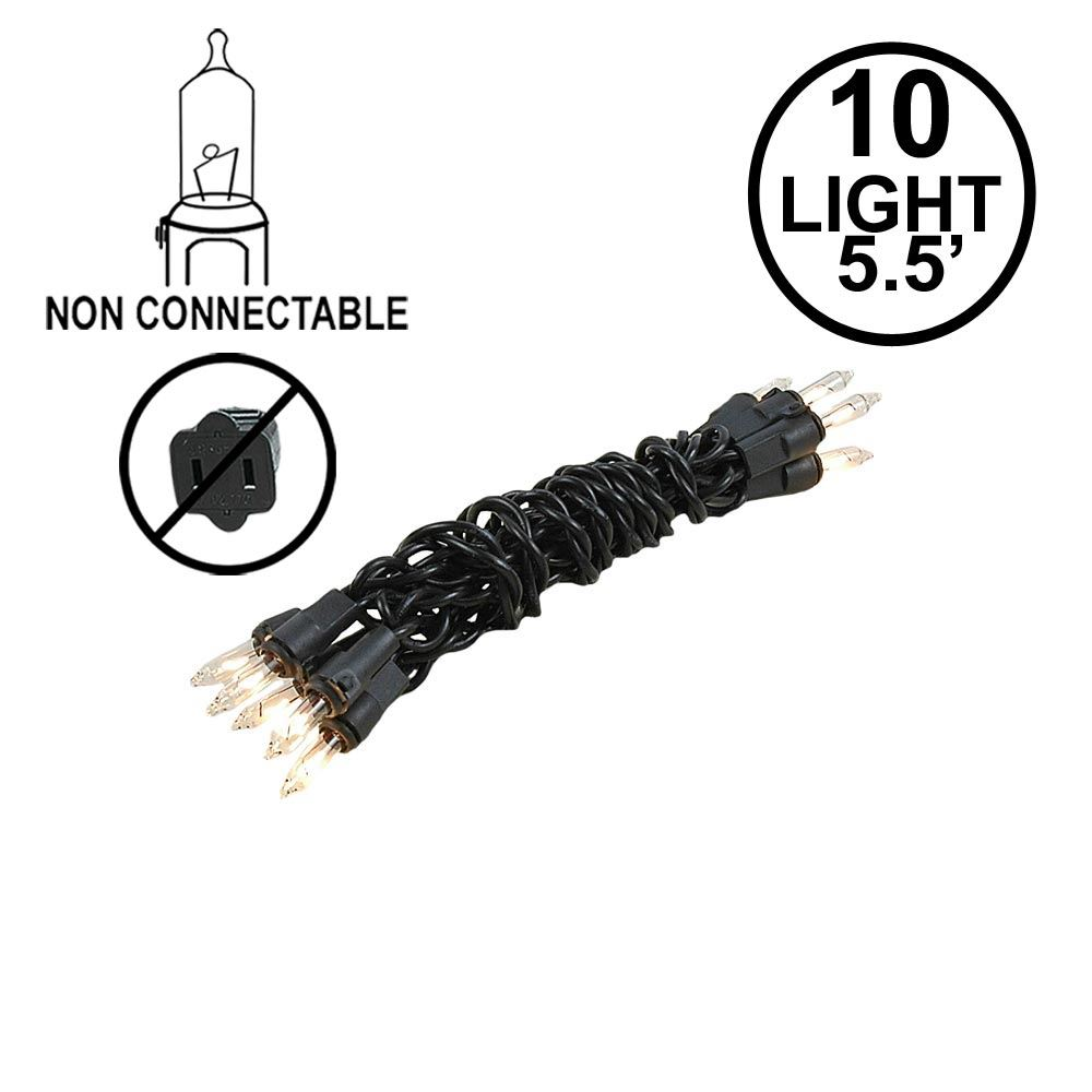 Picture of Non Connectable Black Wire Mini Lights 10 Light 5.5'