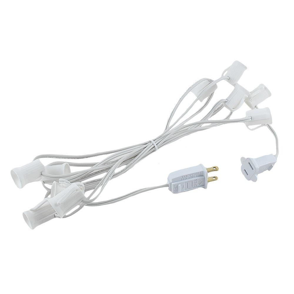 "Picture of C9 10' Stringers 12"" Spacing White Wire"