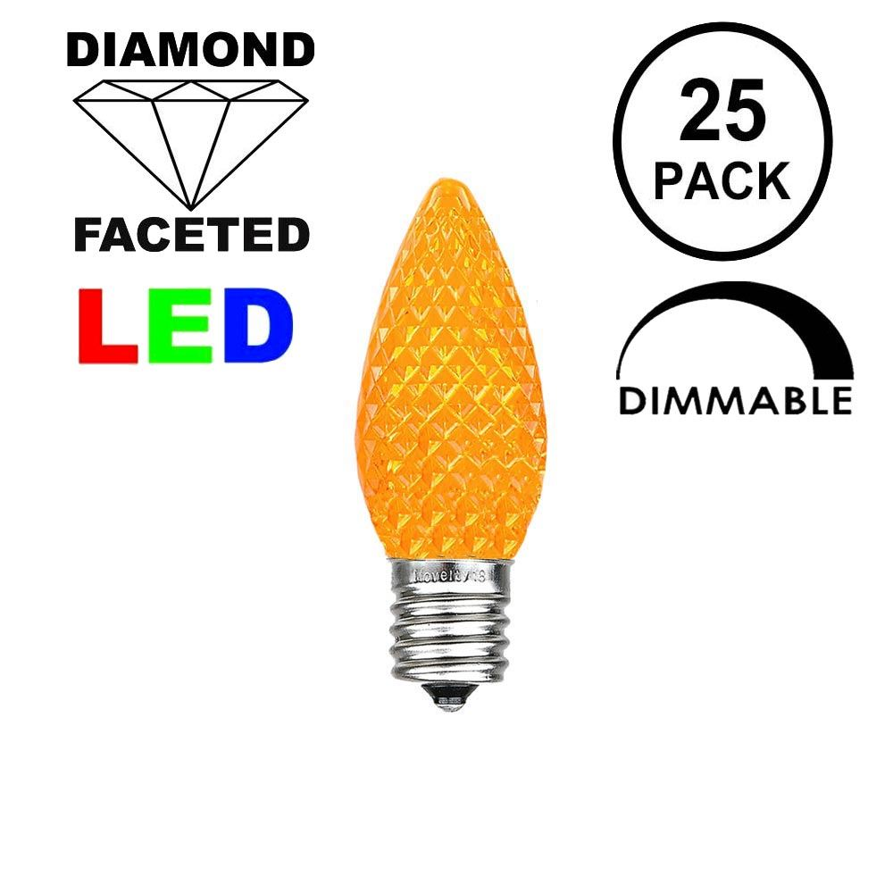 Picture of Amber C7 LED Replacement Bulbs 25 Pack