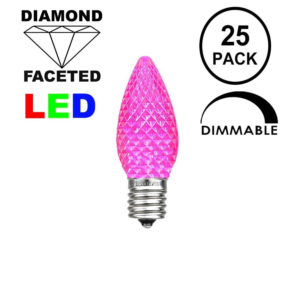 Picture of Pink C7 LED Replacement Bulbs 25 Pack