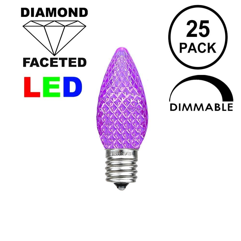 Picture of Purple C7 LED Replacement Bulbs 25 Pack