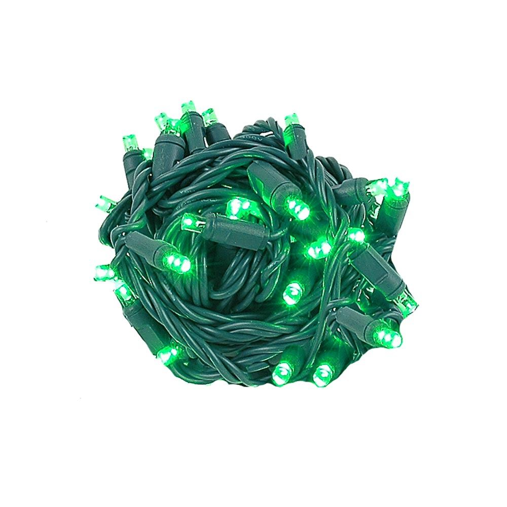 "Picture of Coaxial 50 LED Green 4"" Spacing Green Wire"