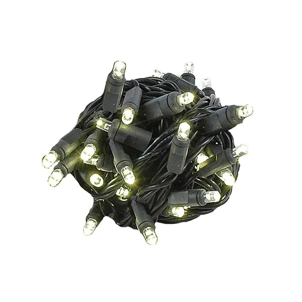 "Picture of Coaxial 50 LED Warm White 4"" Spacing Black Wire"