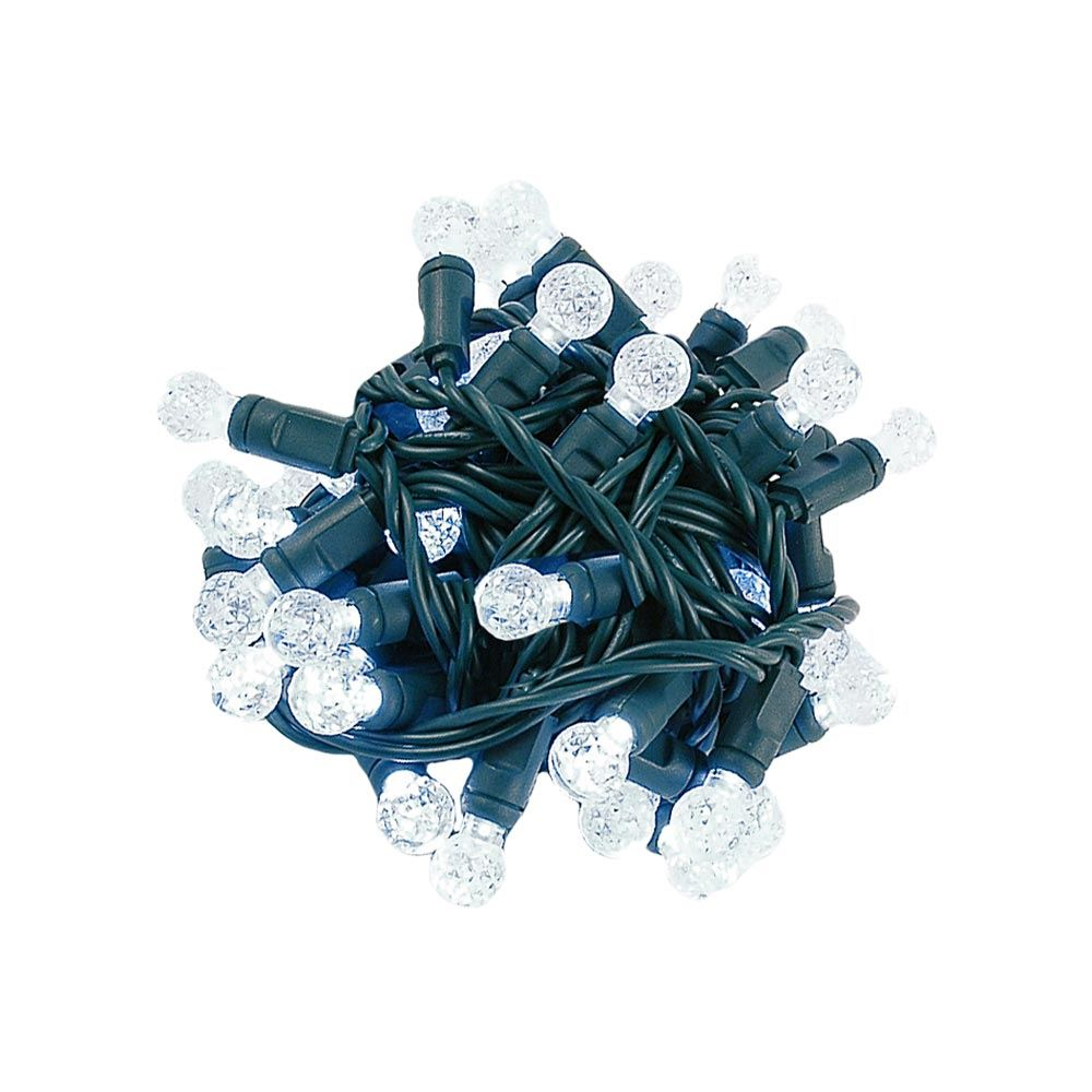 """Picture of Coaxial G12 50 LED Pure White 4"""" Spacing Green Wire"""
