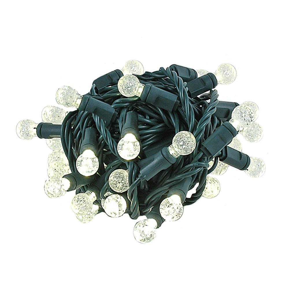 "Picture of Coaxial G12 50 LED Warm White 4"" Spacing Green Wire"