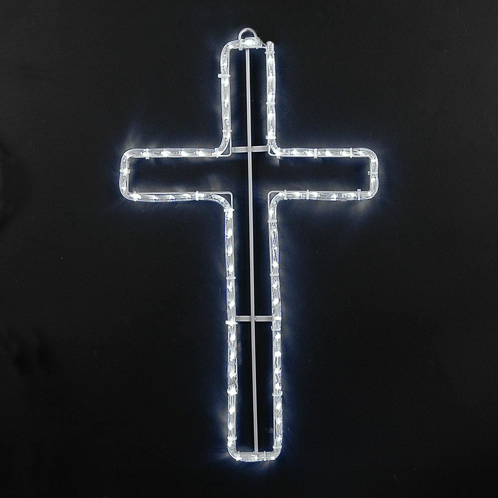 "Picture of 24"" Christian Cross LED Rope Light Motif"