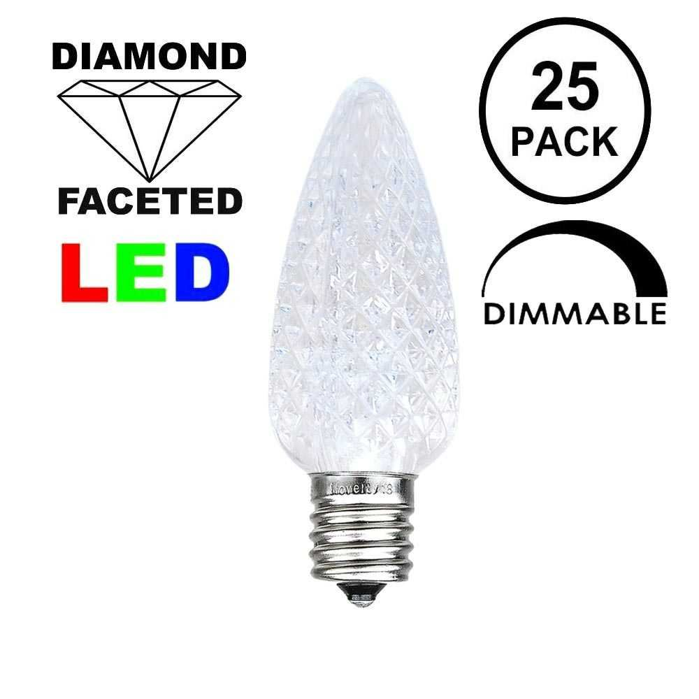 Picture of Pure White C9 LED Replacement Bulbs 25 Pack