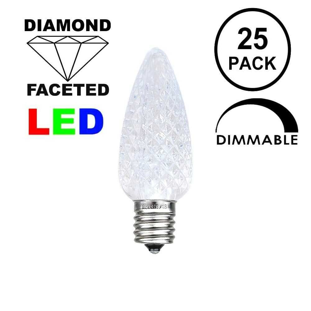 Picture of Pure White C7 LED Replacement Bulbs 25 Pack