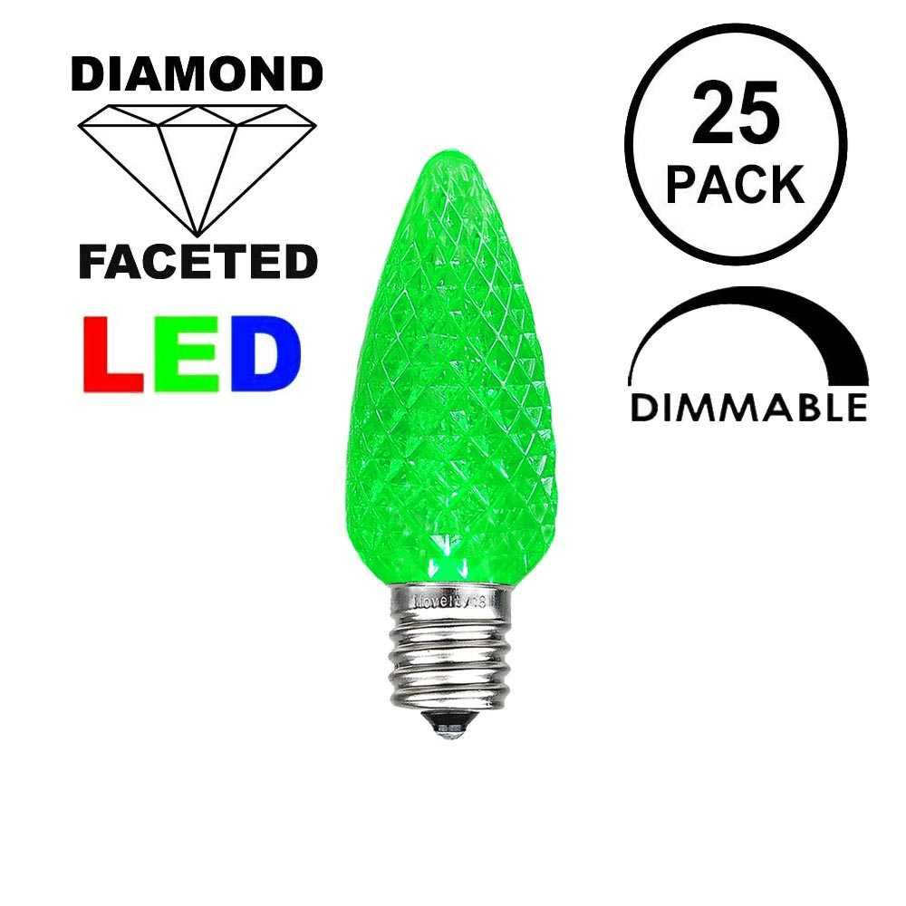 Picture of Green C7 LED Replacement Bulbs 25 Pack