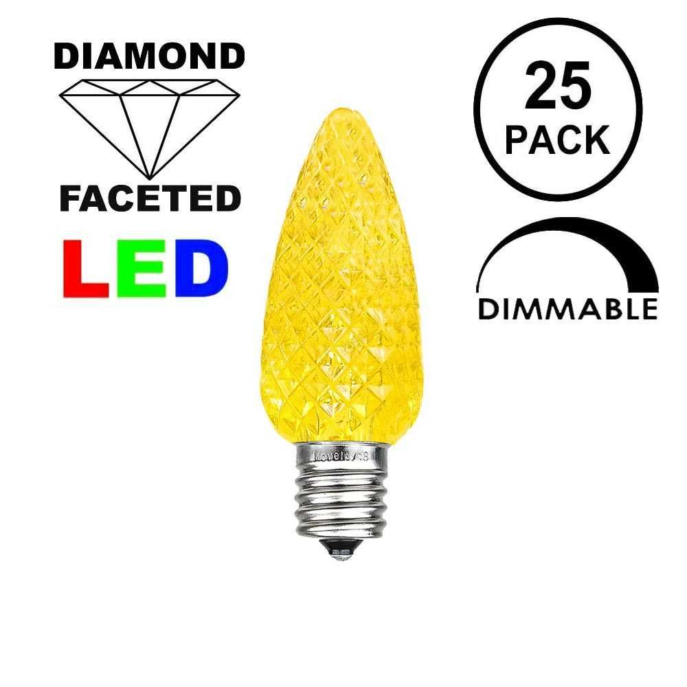 Picture of Yellow C7 LED Replacement Bulbs 25 Pack